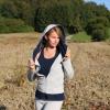 Kapuzen-Jacke hellgrau/blau Bio-Baumwolle