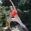 Yoga Legging Capri grau Bio-Baumwolle