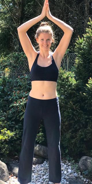 Yoga Bustier Bio Baumwolle - marineblau
