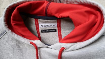 Yoga Hoodie hellgrau Kapuze