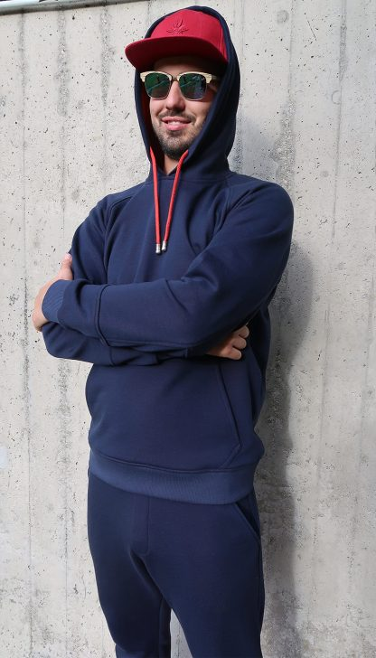 Herren Yoga Hoodie dunkelblau
