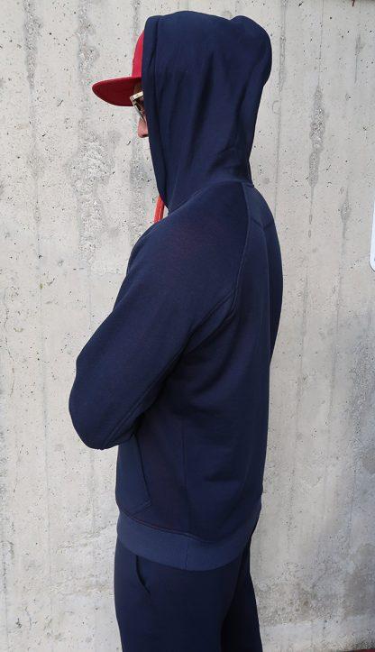Herren Yoga Hoodie dunkelblau seitlich