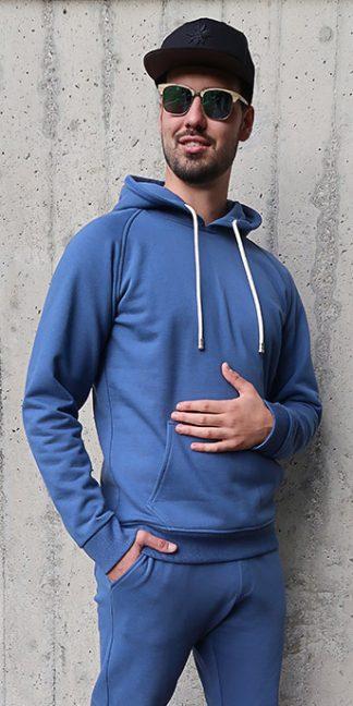 Yoga Hoodie jeansblau