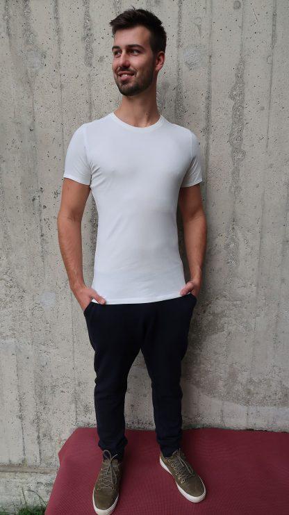 Yoga T-Shirt Herren weiß
