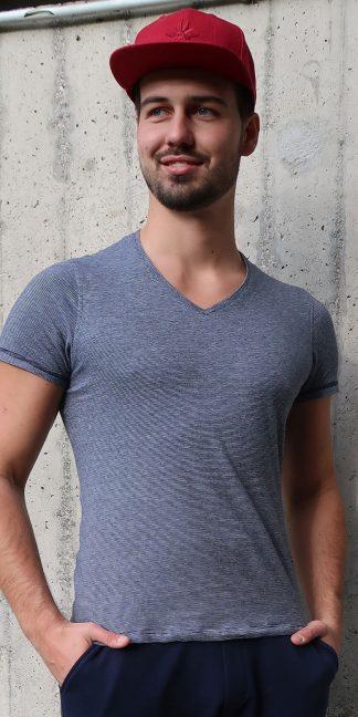 Yoga T-Shirt Herren, gestreift