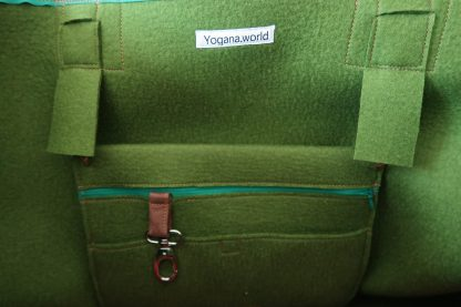 Yoga Tasche aus Wollfilz, grün, von Yogana.World