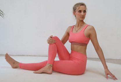 Yoga Legging blush Bio-Baumwolle