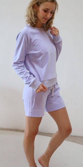 Sweater lila Bio-Baumwolle