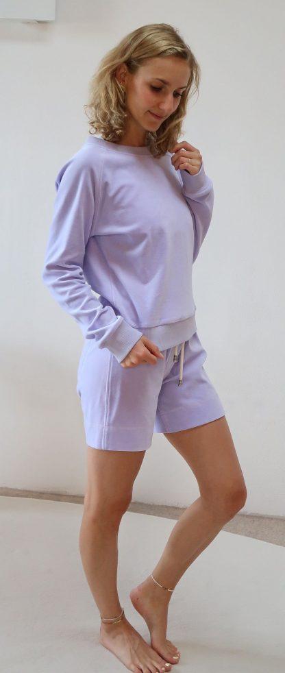 Yoga Sweater lila Bio-Baumwolle