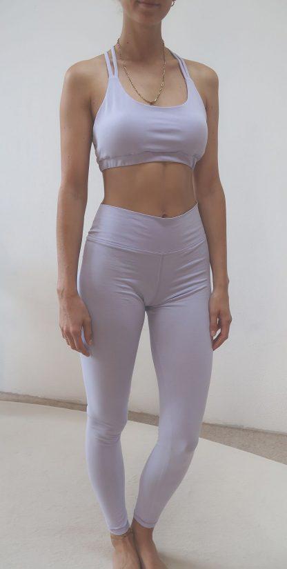 Yoga Leggin lila Bio-Baumwolle