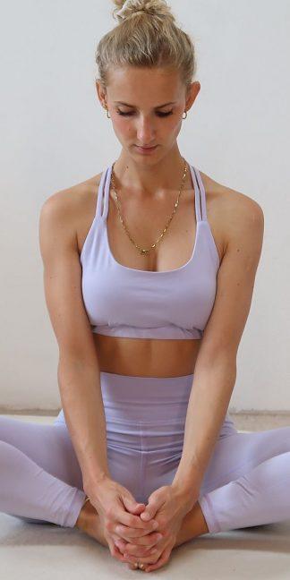 Yoga Legging lila Bio-Baumwolle