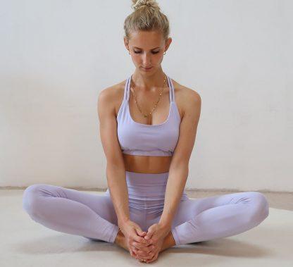 Yoga Leggings lila Bio-Baumwolle