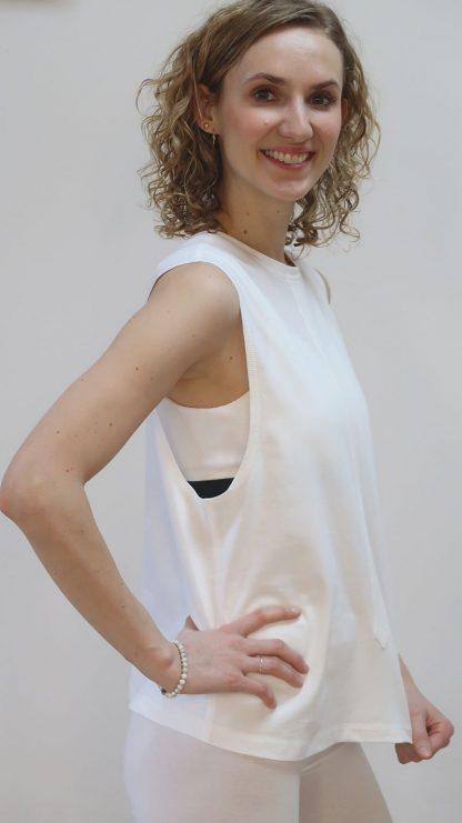 T-Shirt Damen weiß Bio-Baumwolle