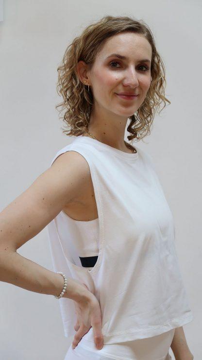 T-Shirt weiß aus Bio-Baumwolle