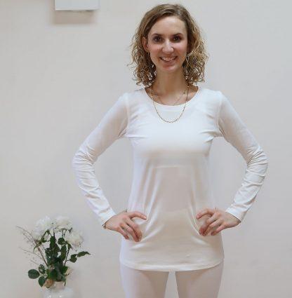 Longsleeve weiß Bio-Baumwolle