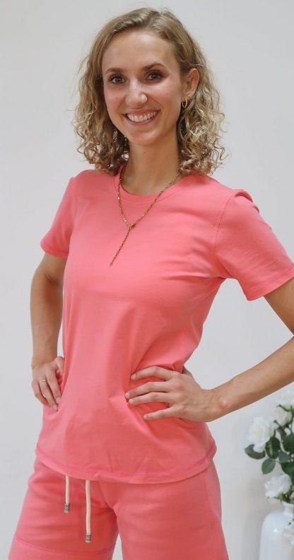 Kurzarm-T-Shirt blush Bio-Baumwolle