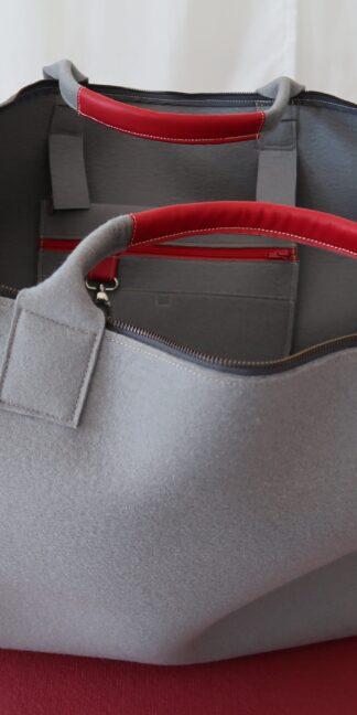 Yoga Tasche aus Wollfilz, grau, von Yogana.World
