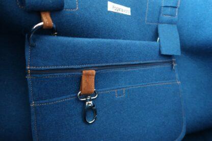 Yoga Tasche aus Wollfilz, blau, von Yogana.World