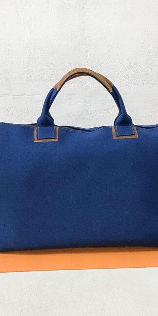 Yoga Tasche aus Design-Wollfilz, blau