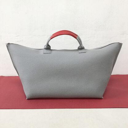 Yoga Tasche aus Design-Wollfilz, grau