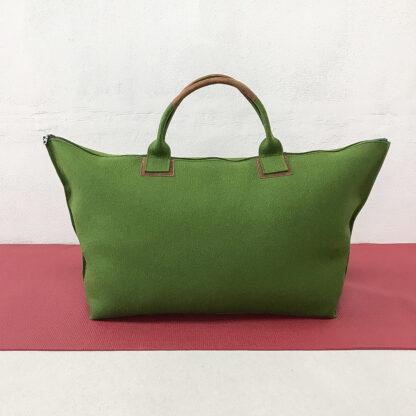 Yoga Tasche aus Design-Wollfilz, grün